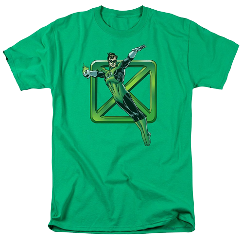 t-shirts gedragen door Sheldon Cooper - Sheldon's Flying Green Lantern Shirt
